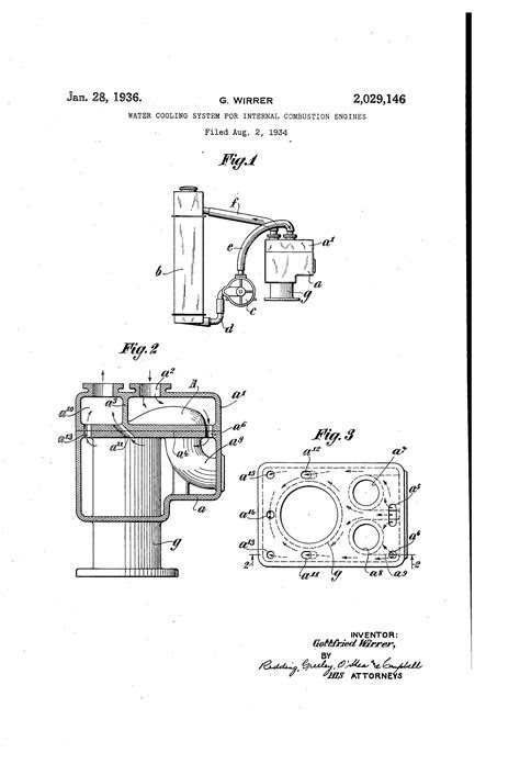 Patent US2029146 - Water cooling system for internal