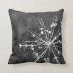 nature art pillow in gray and white for home decor