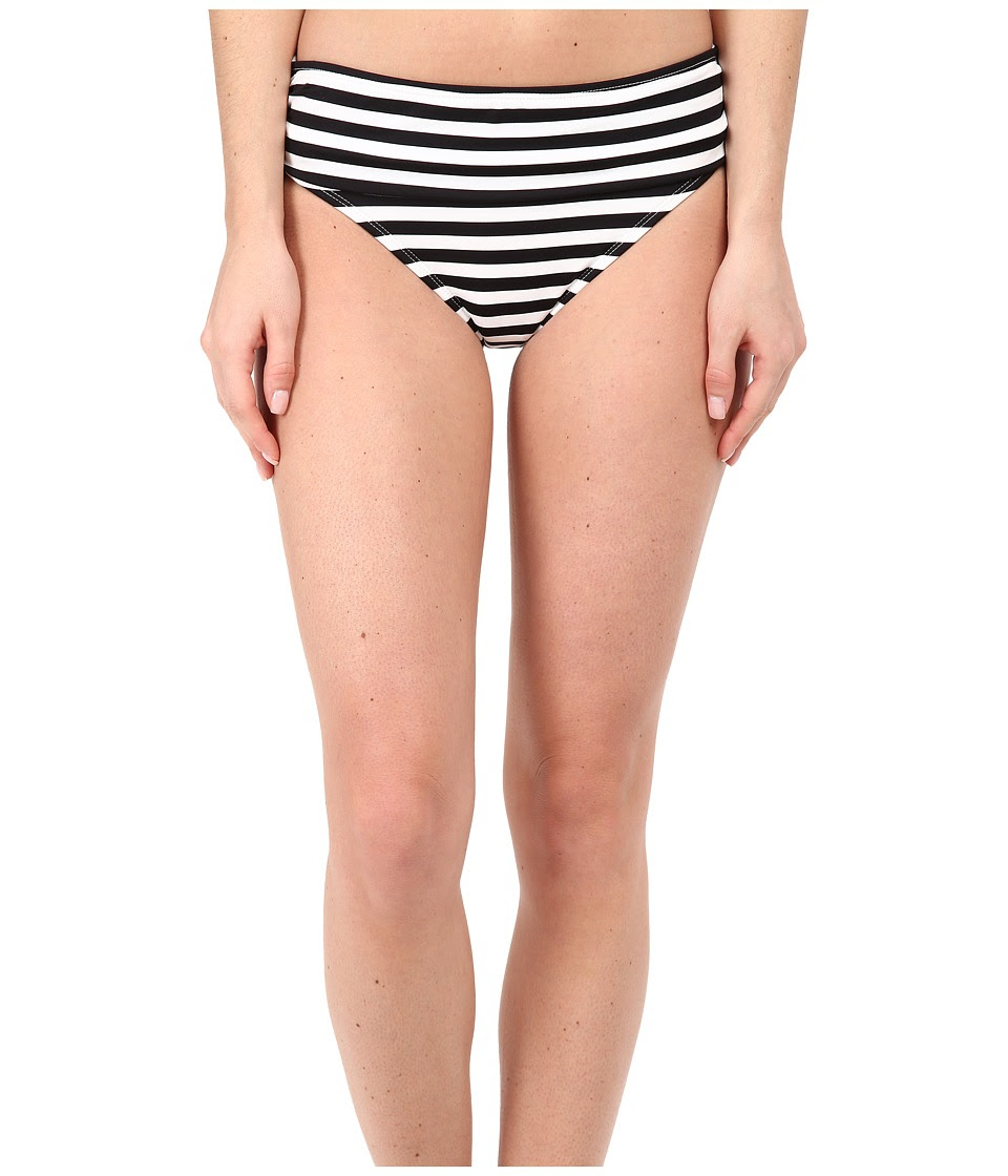 Tommy Bahama - Black White Stripes High Waist Sash Pants (White) Women's Swimwear