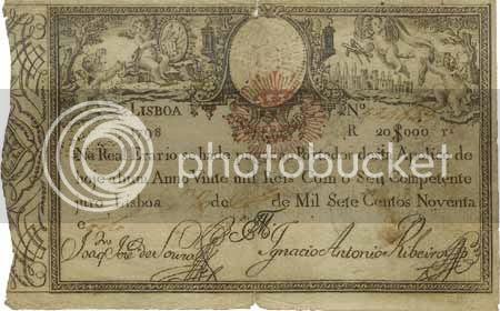 Apólice do Real Erário de 1798, no valor de 20 mil réis - Image hosted by Photobucket.com