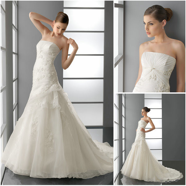 2012 Tulle Skirt Lace Applique Bridal Wedding Dresses WD021