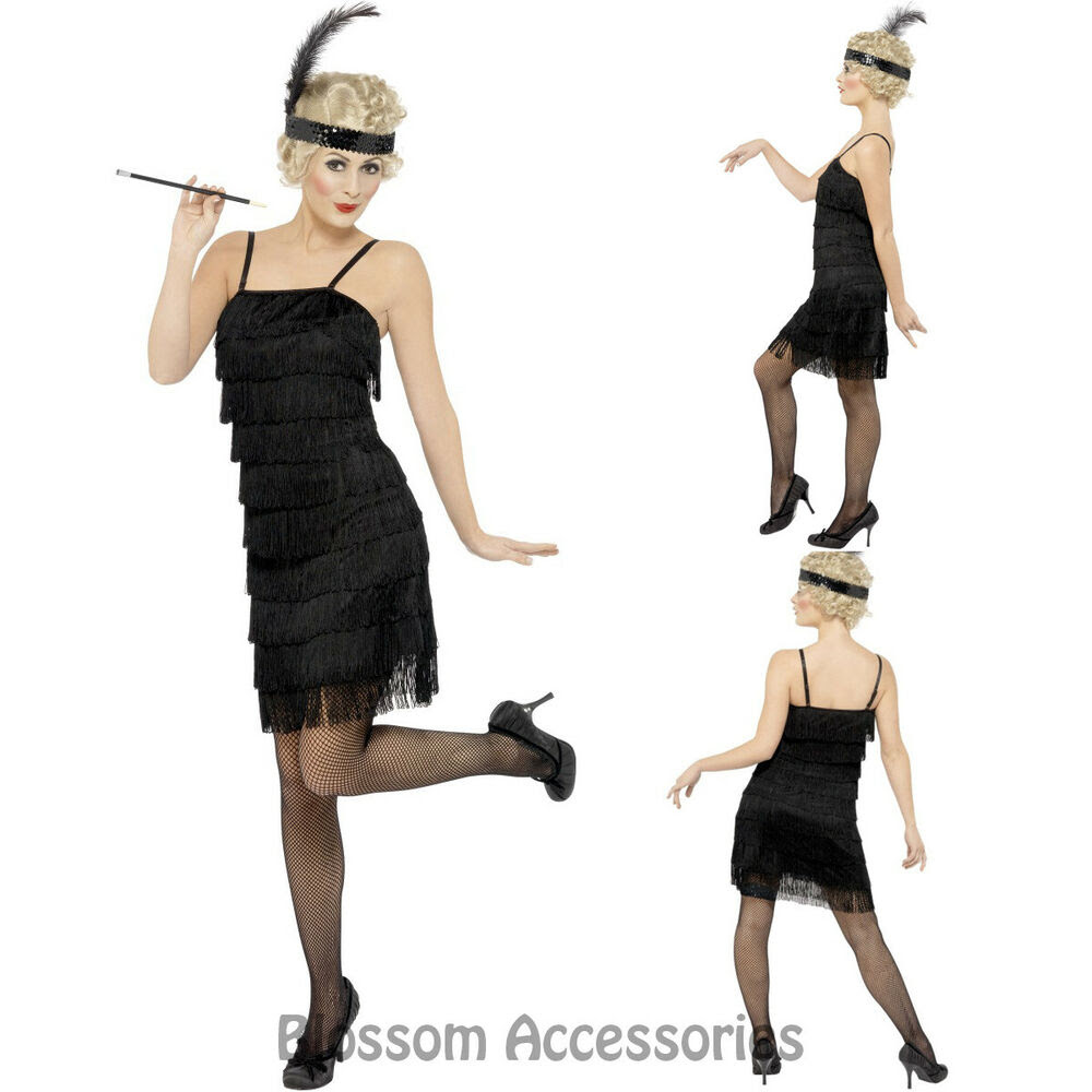 cl710 fringe flapper ladies 1920s roaring 20s dress