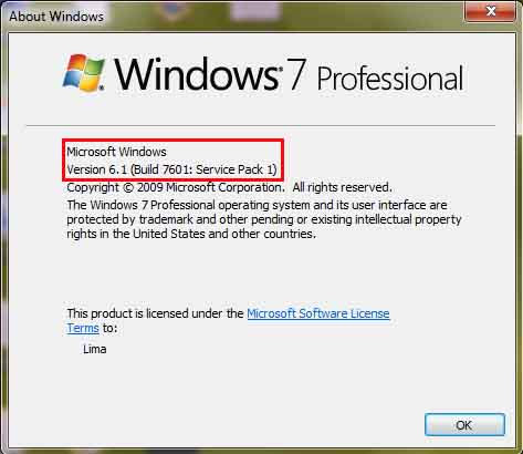 Windows Version