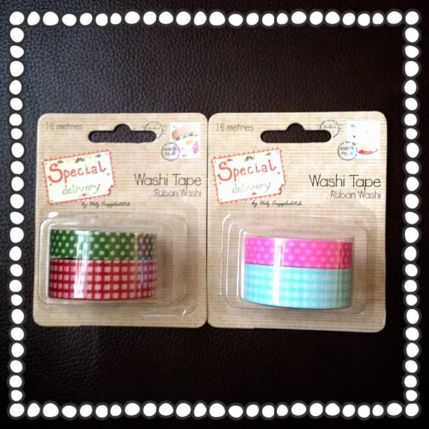 I finally found some #washitape in #bradford, hopefully soon I'll be able to buy more as I asked the lady at the craft shop in the city to look into getting some. I hope she does :) #spots #checkered #christmas
