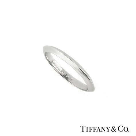 Tiffany & Co Knife Edge Wedding Band In Platinum   Rich