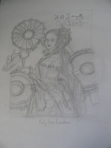 Lady Ada Lovelace drawing