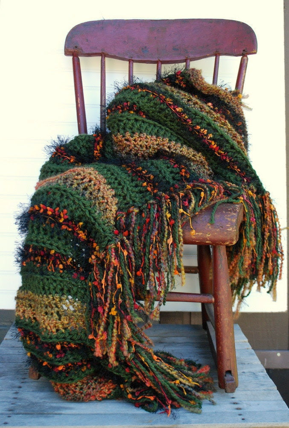 Afghan Autumn Home  Decorative Throw Fall Accent