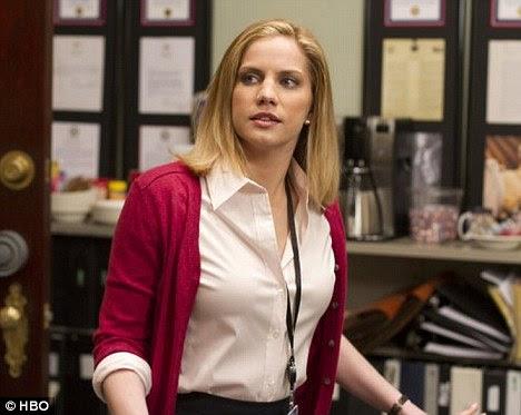 Papel sério: Anna joga Chefe de Gabinete em Veep comédia política, que estréia em os EUA ainda este mês