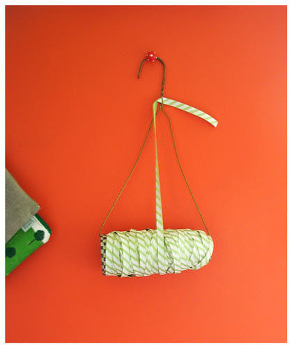 clothes hanger ribbon holder