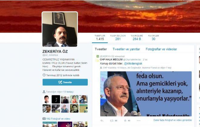 zekeriya öz, tweet, sosyal, medya, kemal kılıçdaroğlu, retweet,