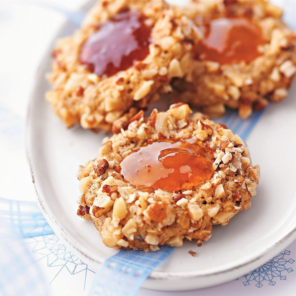Walnut Raspberry Thumbprints Recipe - EatingWell