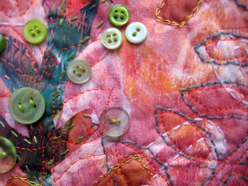 green button bush ~ detail