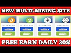 20$ Live Withdrawal New Biggest Bitcoin Mining website  New BTC Mining site