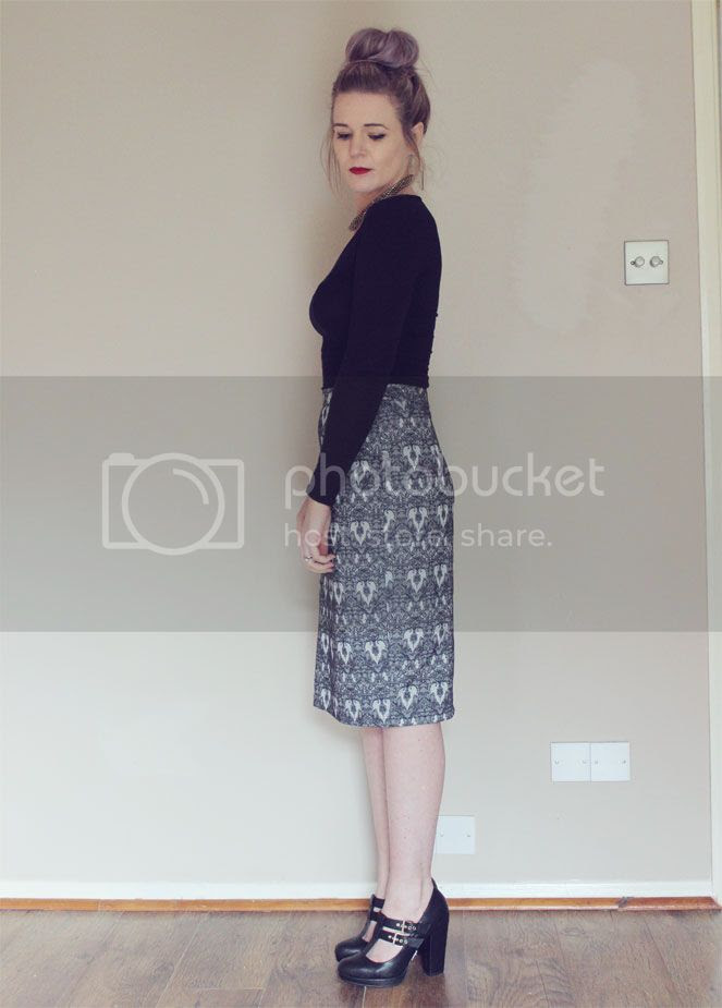 poppy lux midi skirt