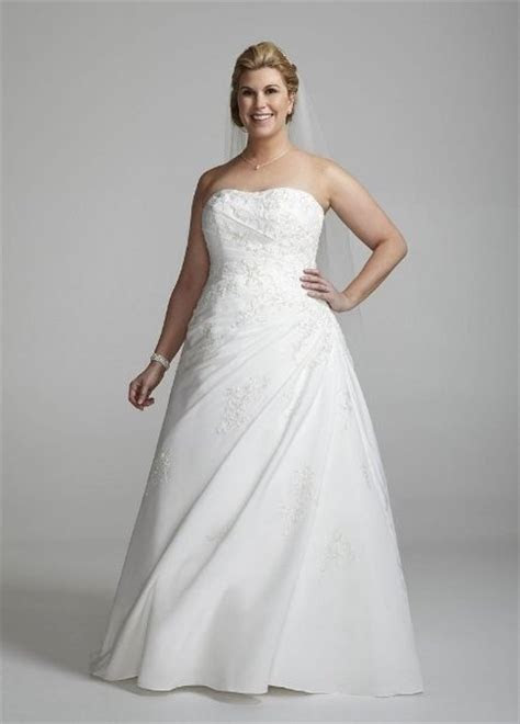 David's Bridal Plus Size Sweetheart Strapless Fallie A