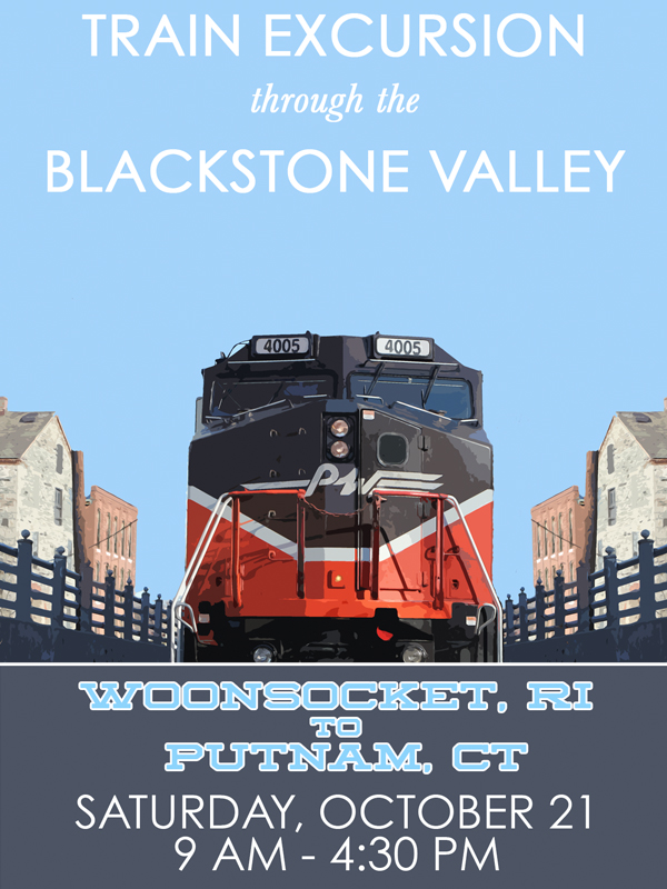 Train Excursion through the Blackstone Valley less than a month away!