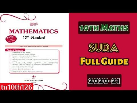 10th Maths SURA Full Guide (2020-21) Samples (English ...