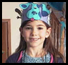 Blue<br />  and Magenta Party Hats  : Birthday Crafts for Kids