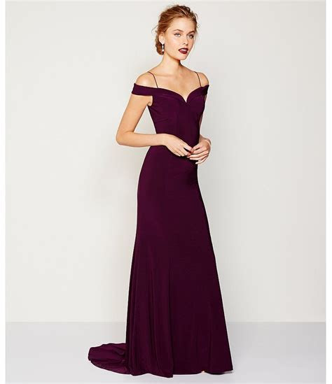 Adrianna Papell Cold Shoulder Mermaid Gown   (dillards
