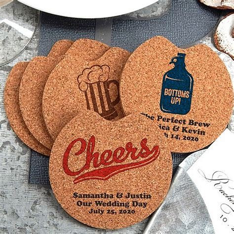 Custom Printed Cork Car Cup Holder Coaster Wedding Favors