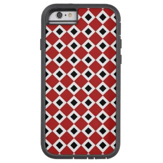Red, White, Black Diamond Pattern iPhone 6 Tough iPhone 6 Case