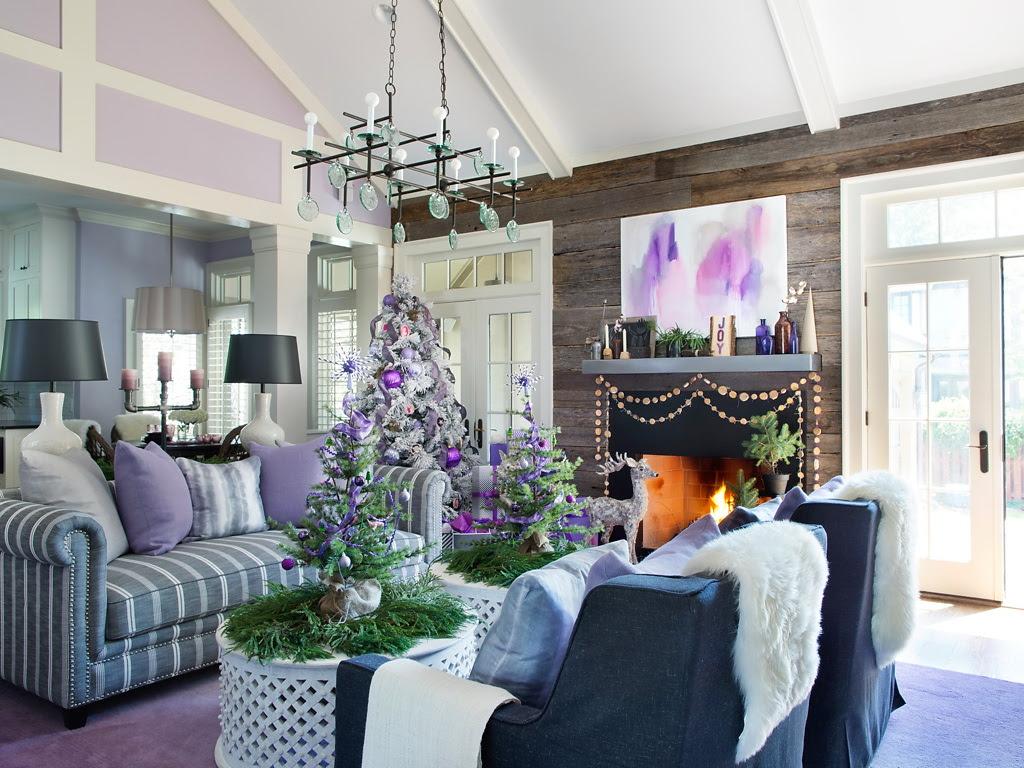HGTV Modern Holiday Color Palette Lavender Grey Violet 2