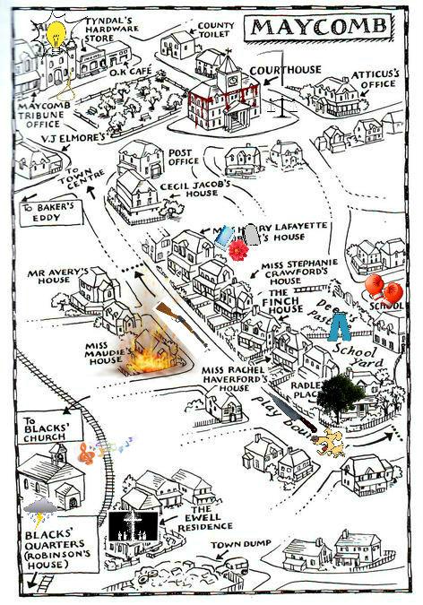 To Kill A Mockingbird Map | Bedroom 2018