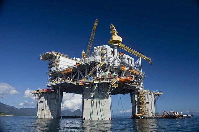 Plataforma da Petrobras em Angra dos Reis