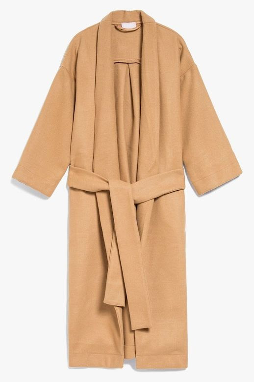 Le Fashion Blog Fall Style Long Farrow Belted Camel Robe Coat Via Need Supply Co