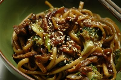 Blazing Hot Wok: Pan-fried Udon Noodles with Beef ...