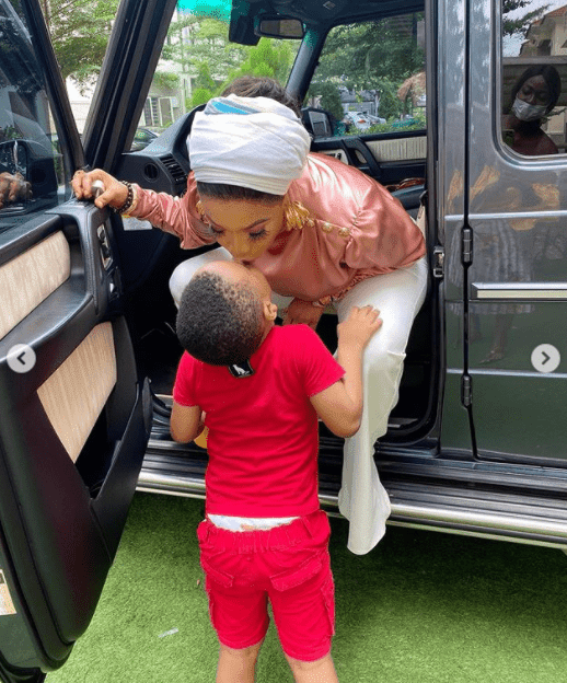 """""""I AM JEALOUS OF THE RELATIONSHIP MY SON HAS WITH HIS NANNY"""" – TONTO DIKEH"""
