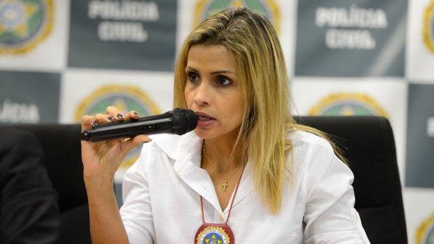 Delegada Cristiana Bento, agora responsável pelo caso de estupro coletivo