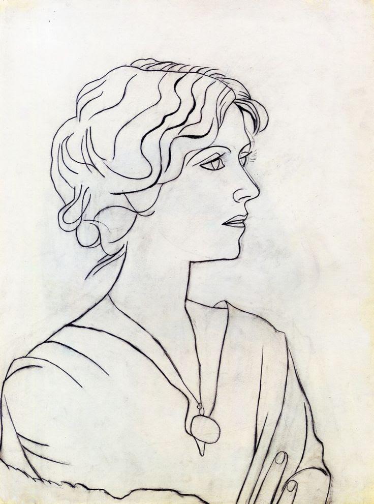 Portrait of Olga - Pablo Picasso 1920