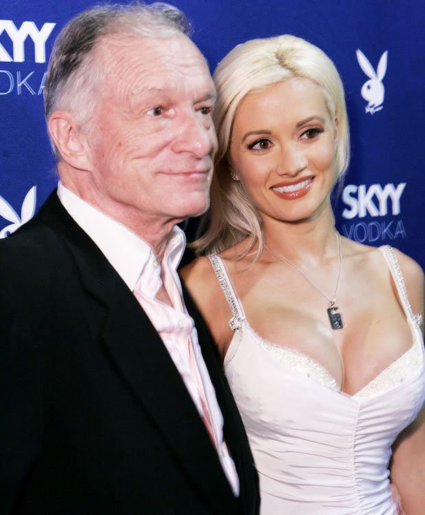 Hugh Hefner with Holly Madison