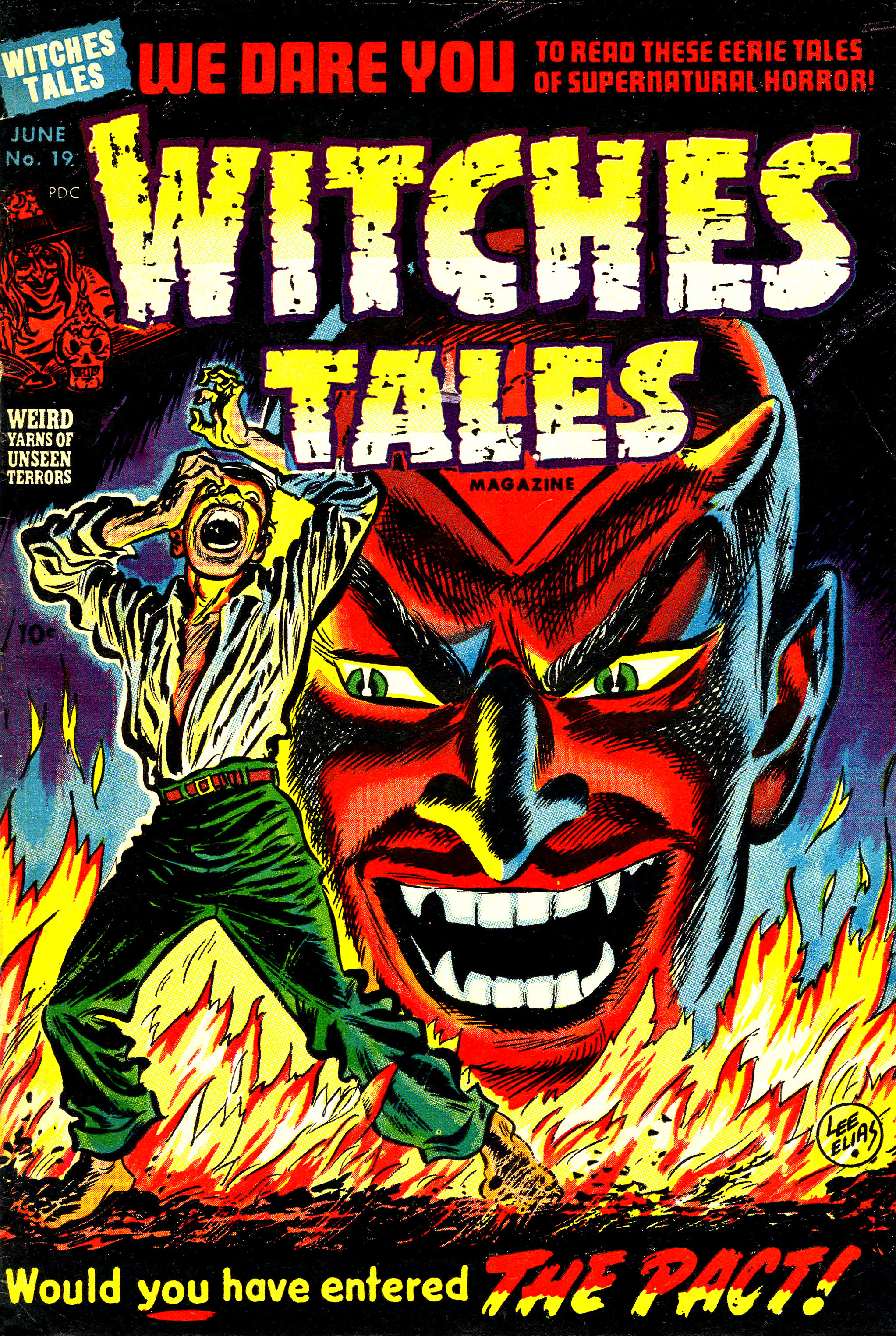 Witches Tales #19, Lee Elias Cover (Harvey, 1953)