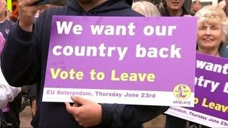 Cartell dels partidaris de la sortida del Regne Unit de la Unió Europea