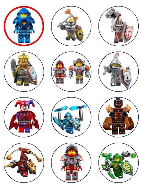 Lego Nexo Knights Edible Icing Cupcake and Cake Toppers