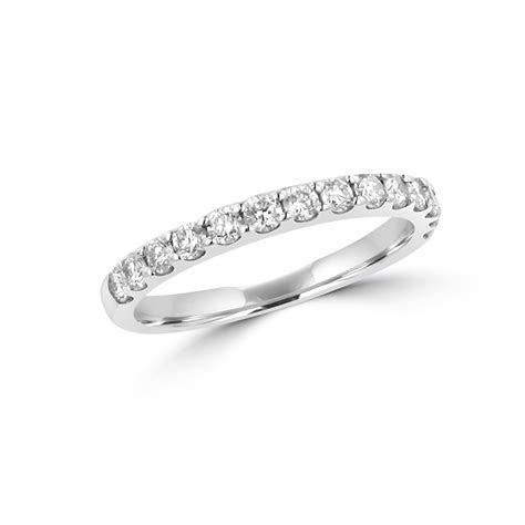 2mm Round Diamond Claw Set Platinum Band Ring   Womens