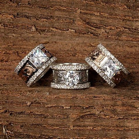 Pretty   IDEAS!!   Western wedding rings, Wedding Rings