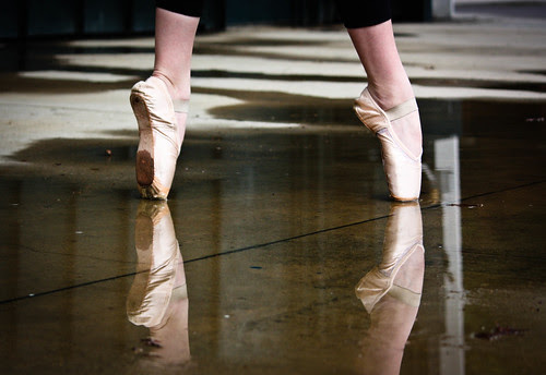 Pointe shoe reflection