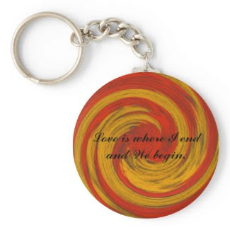 Begin Love Quote Keychain_Romantic Valentine Gifts keychain
