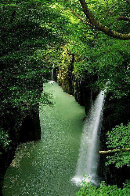 Waterfall, Japan (nice place - spread)