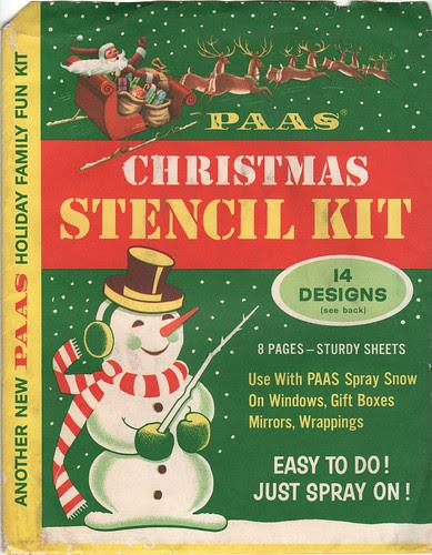 Paas Christmas Stencil Kit