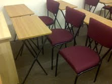 Folding exam tables and chairs.They are £19.99 + vat per set.size is 570 x 360