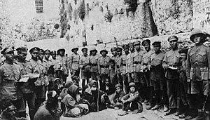 December 1917. Jewish Legion soldiers at the W...