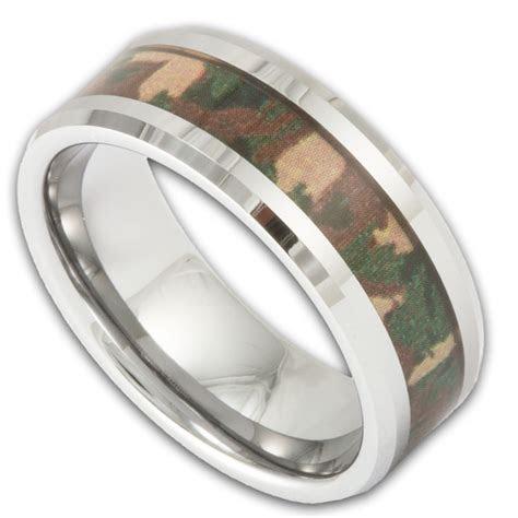 Men's Tungsten Woodland Camouflage Wedding Ring   Shop