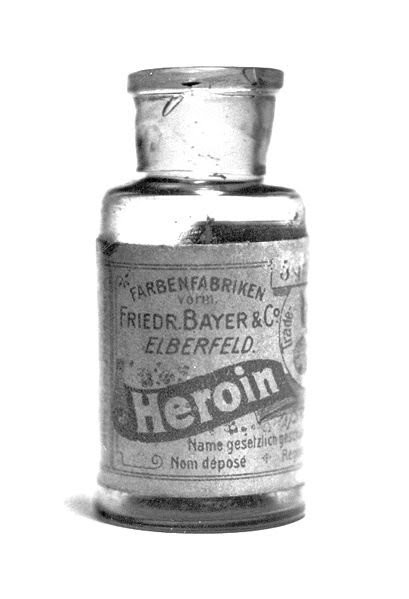 16. Medical heroin, which is sold by Bayer in the 1890s medicine, retro, photo