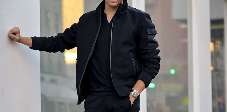 Black Bomber Jacket Outfits Mens