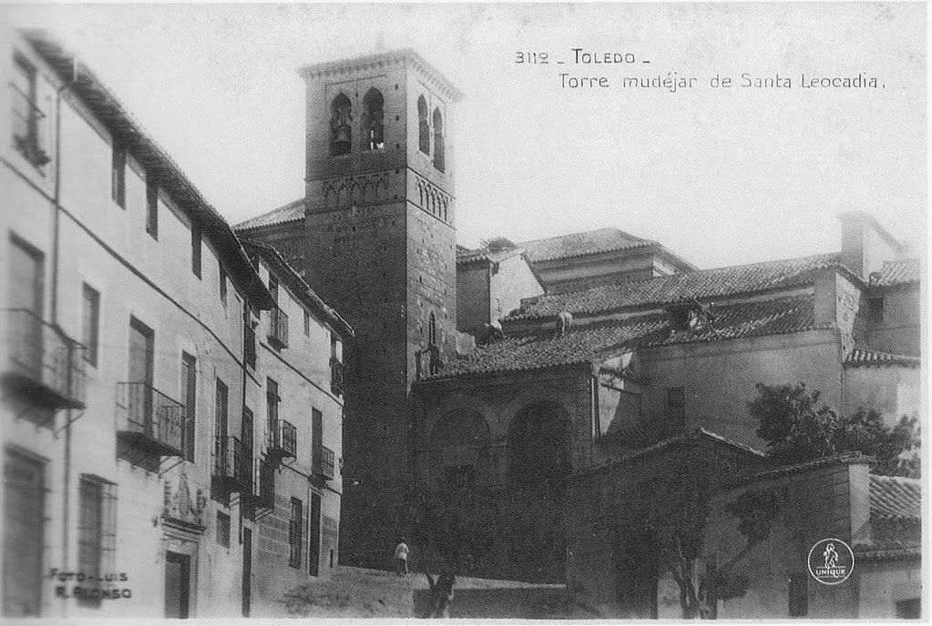 Iglesia de Santa Leocadia a inicios del siglo XX. Foto Alonso