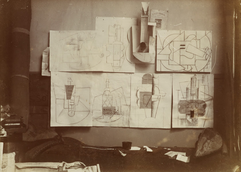 picasso guitar sheet music and glass. Picasso: Guitars 1912–1914